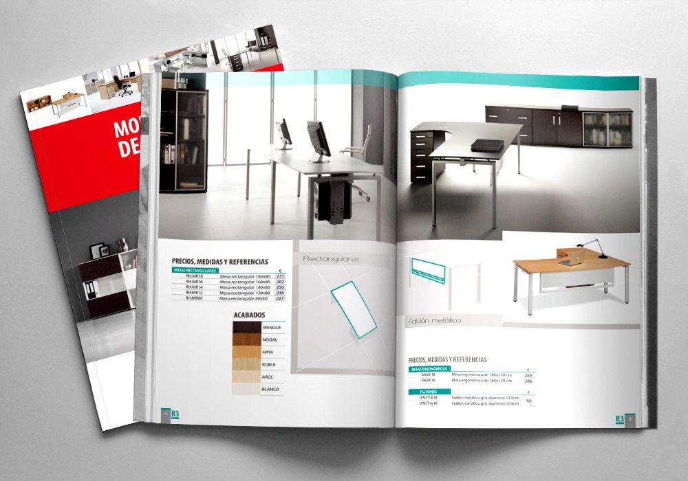 diseño de catalogo de productos sector del muebles
