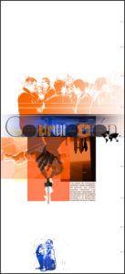 carteles exposición en cantabria sobre la pobreza. La corrupción