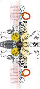 carteles exposición en cantabria sobre la pobreza. la globalización