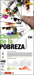 carteles exposicón en cantabria sobre la pobreza. Presentación
