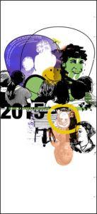 carteles exposicón en cantabria sobre la pobreza. La primera generación