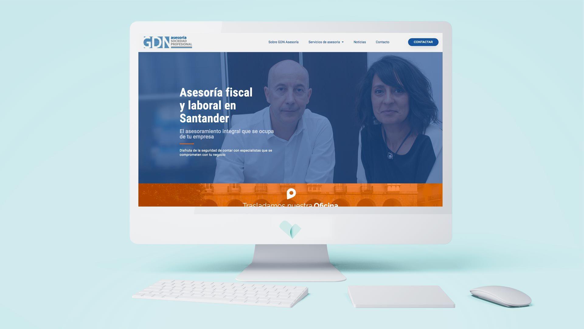 Pagina web GDN asesoria de Santander