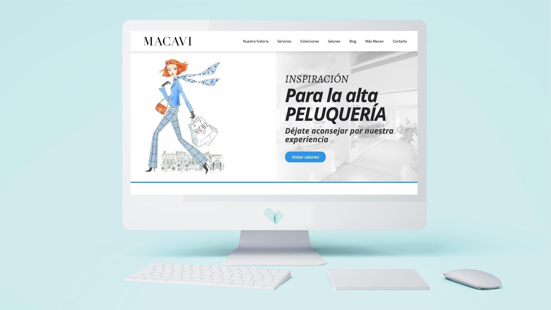 Pagina web para macavi, grupo de salones de peluquería