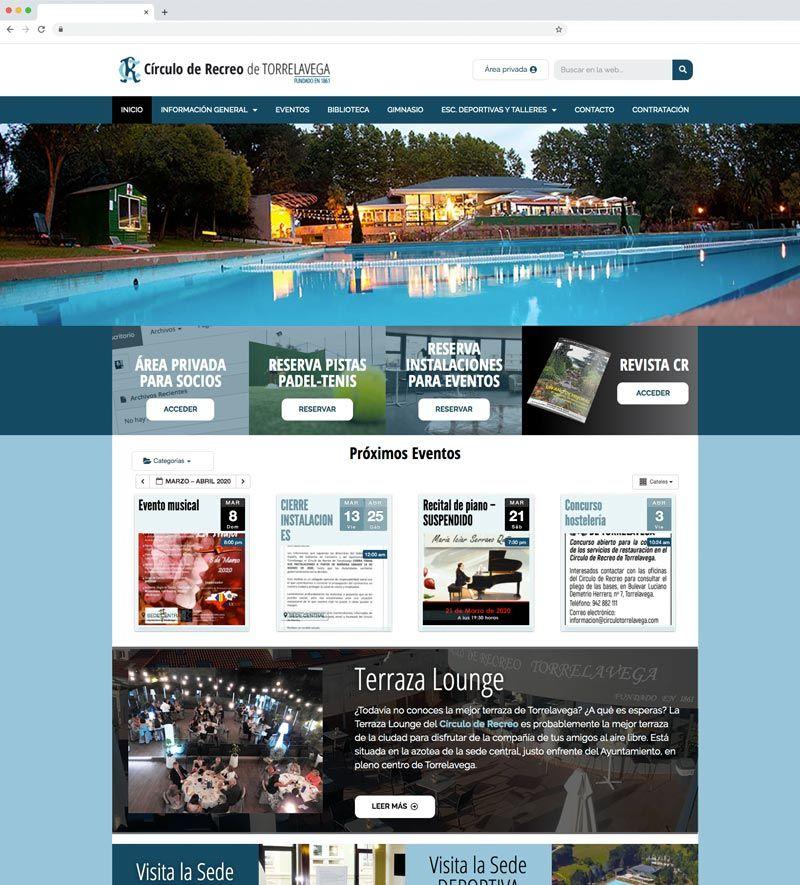 proyecto web para el circulo de Recreo de Torrelavega